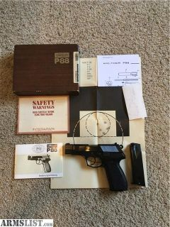 For Sale: Walther P88 9mm Luger (9x19 Para)