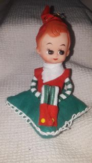 1 Vintage PIXIE ON A PILLOW knee hugger Elf Christmas Ornaments by Yuletide