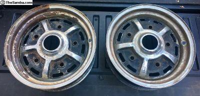 Original EMPI 5 Lug Sprint Star Wheels 4.5x15 '60s