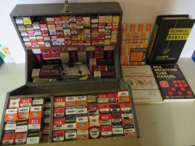 Vacuum Tubes with caddie tester, & manuals