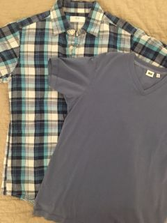Collared shirt sz Extra Small and soft v-neck sz Small