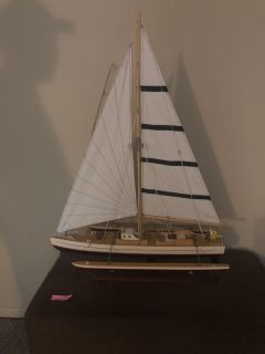 Sail boat decoration large approx 30 inches tall