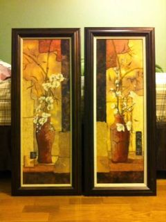 Two beautiful long wall canvas paintings