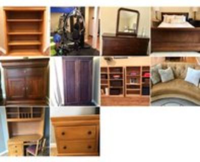 moving sale - bedroom, bookcases, armoire