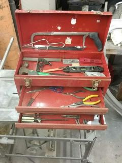 Two Drawer Tool box with tools