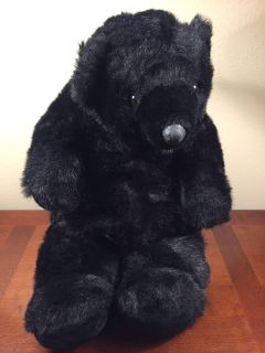 Vintage 1987 Gund 25 Large Plush Black Bear! GREAT Condition! COLLECTIBLE!