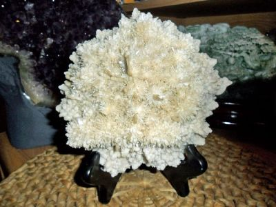 Exceptional and Beautiful Full Cluster of Selenite Green Crystal Sprays