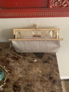 Champagne gold clutch sparkly
