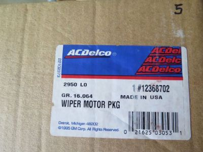 Sell New Old Stock GM OEM ACDelco 12368702 Wiper Motor Package (13-E1) motorcycle in La Verne, California, United States, for US $85.00