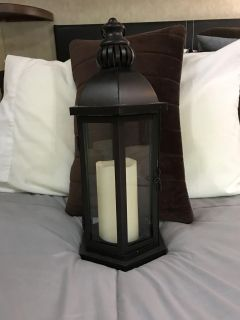 Lantern with flameless candle