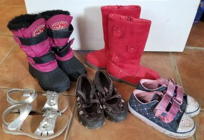 Toddler size 10 boots and shoes