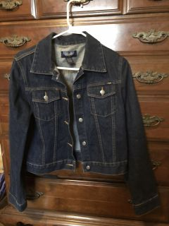 Jean Jacket barely worn, L but runs small