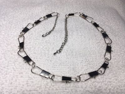 Fishing Necklace Made With Saltwater Swivels Male or Female with Extension