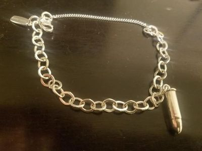 James Avery Charm Bracelet with Silver Bullet Charm