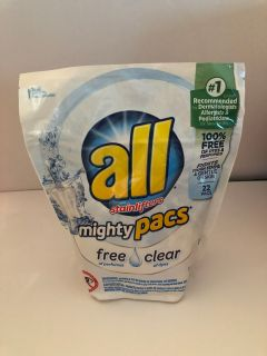 All Stain lifters Mighty Pacs Free & Clear - 1 of 6