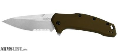 For Sale: Kershaw Exclusive Link Assisted 3.25in Stonewash Serr Bronze Handle 1776BRZSWST