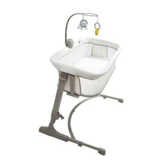 New Arm's Reach The Co-Sleeper Versatile Bassinet in Ivory/Grey