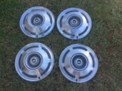 Set of Galaxie/County Squire 15 wheels, caps, tires
