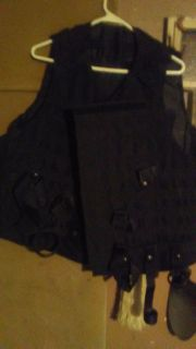 , Black Tactical Vest brand new great for hunting
