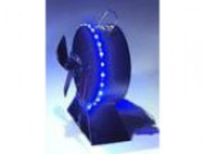 New design Heat Powered Stove Fan with Leds for Wood Log Burner