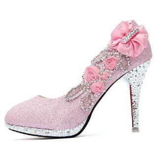 Crystal Platform Stiletto Shoes