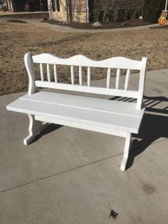 White spindle bench