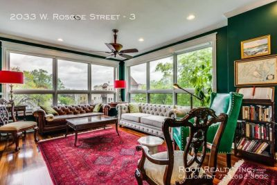 Roscoe Village – HUGE 3-Bedroom+den/2.5-Bath Condo for Rent - Available September 1st!