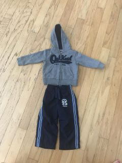 2T Osh Kosh ZIP Up Jacket & lined Athletic Pants - great condition!