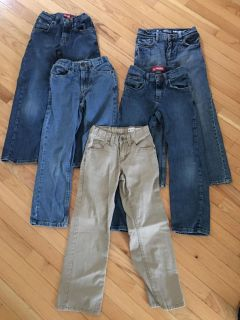 Boys size 10 slim pants all in excellent condition with adjustable waist (all for $20)
