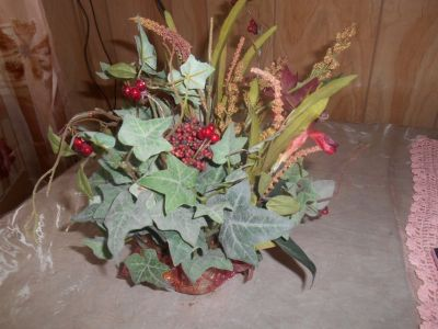 Artificial Foliage with Ivy and Berries.