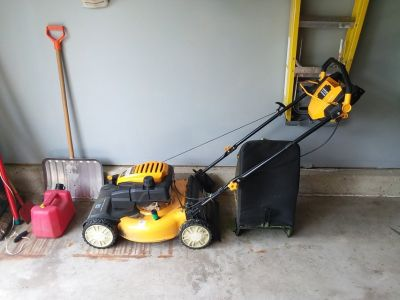 Cub cadet lawn mower and lawn edger