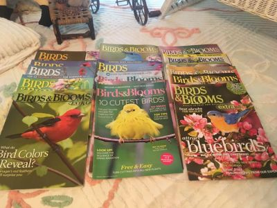 15 Back Issues of Birds & Blooms Magazine