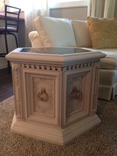 Adorable blush pink side table/night stand