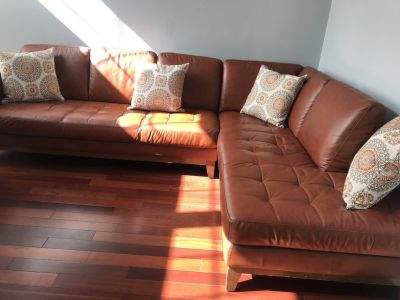 Oversized Italian Leather Sectional *PRICE ??*