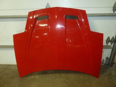 Sell 93-97 FIREBIRD Bright Red 8774 Hood Front End Bonnet Cover w/o Ram Air Scoops motorcycle in Cleveland, Ohio, US, for US $202.50