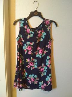Floral long tank, like new