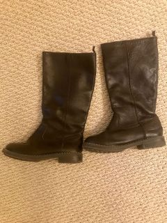 Gap kids LEATHER boots size 12