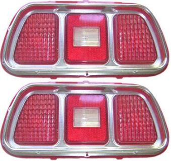 Purchase 71-73 MUSTANG TAIL LIGHT LENSES AND TRIM PAIR, 1971 1972 1973 MUSTANG motorcycle in Sheffield Lake, Ohio, US, for US $174.95