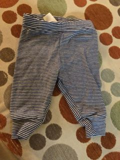 Navy and white stripe pants