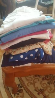 Lot of 11 size large tops EUC, SMOKE & PET FREE some from loft, some sheer some tee shirts