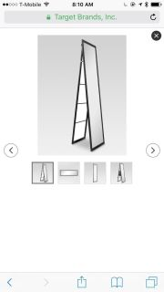 Selling new free standing mirror black. In packaging still.