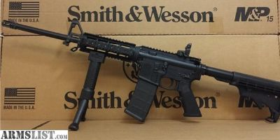 For Sale: Smith & Wesson AR 15 M&P15 Sport 2 with Quad Rail & Fore Grip Bi Pod AR15 rifle Chambered in 5.56 Nato