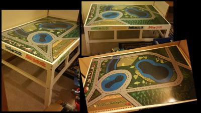 Train Table - Hand painted - Durable