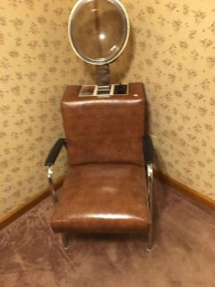 Holden hair dryer with chair