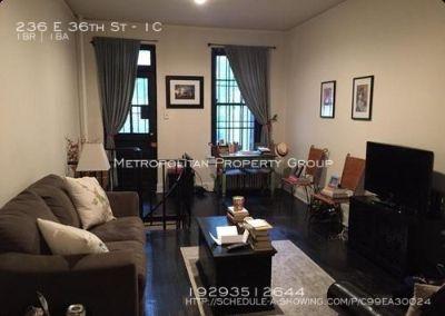 Gramercy Park - 1 Bedroom Duplex With Private Outdoor Patio;  Black Oak Floors
