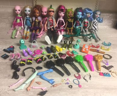 Monster High Dolls, Furniture, Shoes, Stands & Accessories. CP.