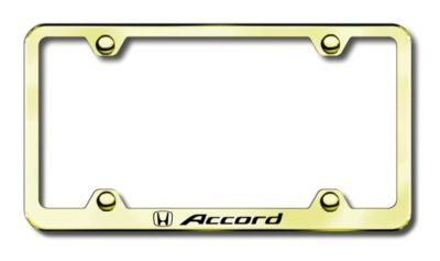 Buy Honda Accord Wide Body Laser Etched License Plate Frame-Gold Made in USA Genuin motorcycle in San Tan Valley, Arizona, US, for US $39.75