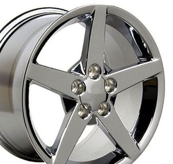 Purchase One 17x9.5 Chrome Corvette C6 Wheel Fits Chevrolet Camaro Pontiac Firebird B1W motorcycle in Sarasota, Florida, United States, for US $155.25