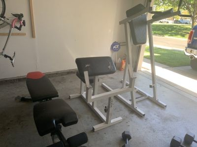 Gym bench abs equipment