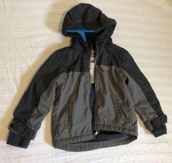 Carters lined water resistant hooded jacket sz 3t